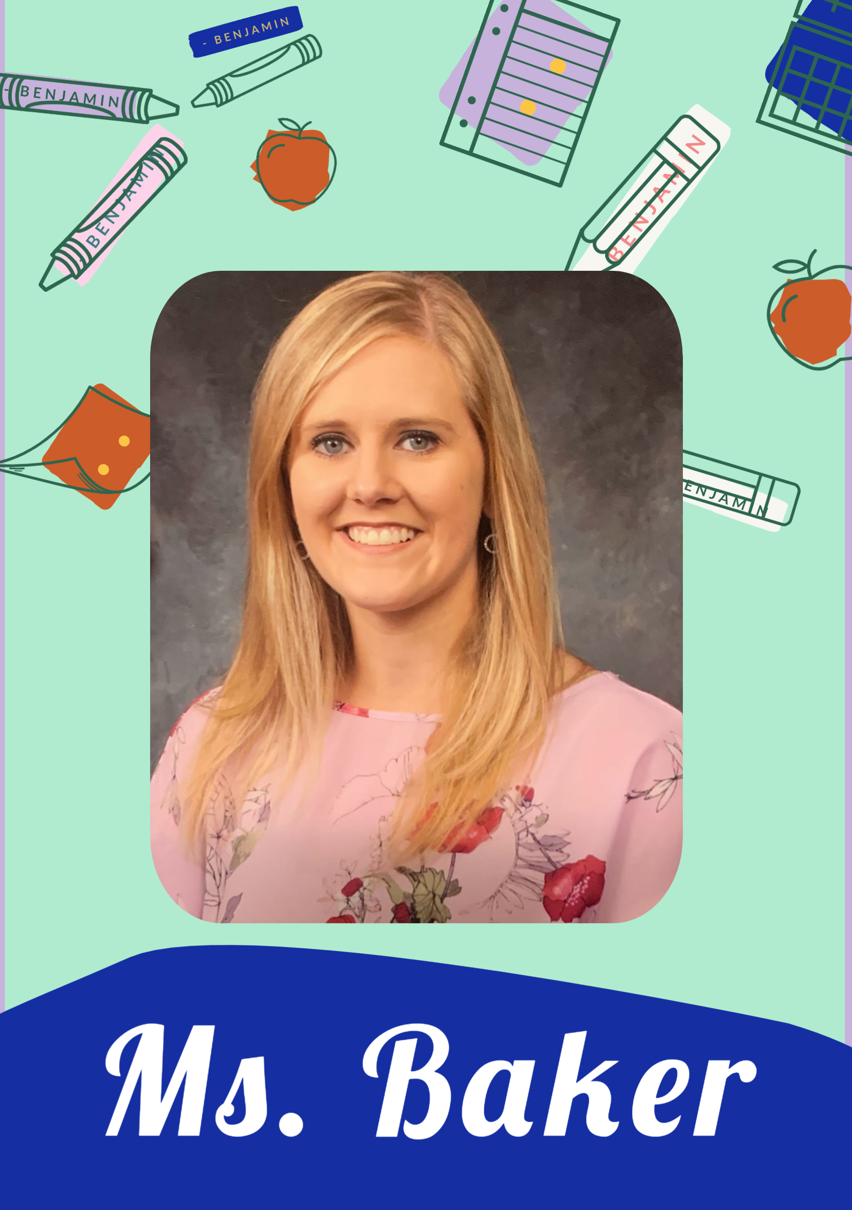 Ms. Baker, one of the speech pathologists